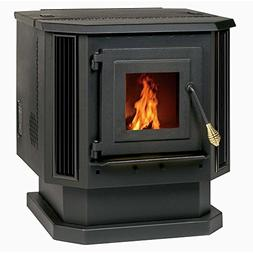 2,200 Sq. Ft. Pellet Stove With Black Louvers Heating, Venti