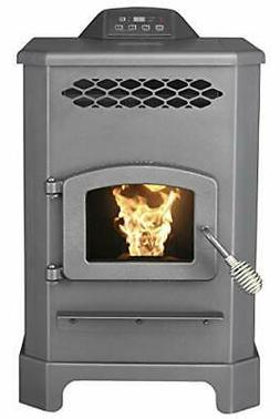 2200 Sq.Ft. King Mini Pellet Stove with 20 lb Hopper and Rem