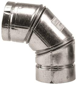 SELKIRK 243231 Type L Vent Stove Pipe Elbow, Galvanized 3""
