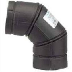 SELKIRK 243231B 90 Deg Pellet Stove Elbow Black