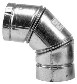 Selkirk 244231 Pellet Stove Elbow, 90 Degree, Type L, 4-In.