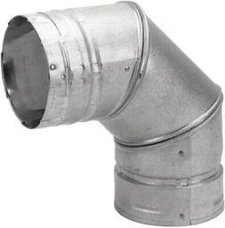 Chimney Pipe 3-Inch Steel 90-Degree Pellet Stove Fireplace V