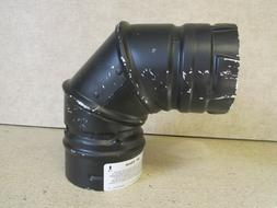 """DuraVent 3"""" Vent Pipe 90 Degree Elbow - Chimney Pellet Stove"""