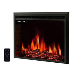"R.W.FLAME 36"" Electric Fireplace Insert,Freestanding & Reces"