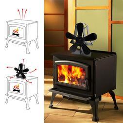 5Blades Heat Powered <font><b>Stove</b></font> Fan For Wood