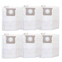 6 Vacmaster Bags Fit 5-6 Gallon Wet & Dry Vacs Part # VDBS