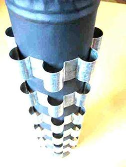 "6 Stovepipe Heat Reclaimer Radiator Rings, 4"" Dia wood stove"