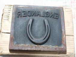 """Englander Cast Iron Wood Stove Door Insert 6 3/4""""x7 7/16"""" VG"""