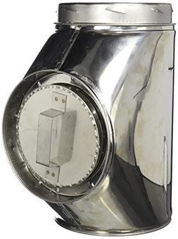 Chimney 77898 MetalBest Tee - With Plug - 6 Inches