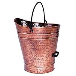 Coal Hod / Pellet Bucket - Finish: Antique Copper, Size: 18