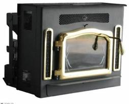 Crossfire Flex-Fuel Stove with Fireplace Insert and Gold Doo