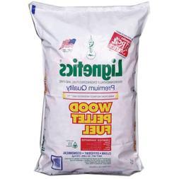 Lignetics FG10 Premium Wood Pellet Fuel, 40 lb Bag, 8800 BTU