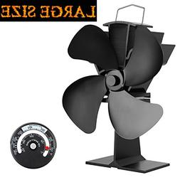 KINDEN Fireplace Fans 4-Blade - Heat Powered Stove Fan for W