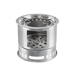 HUKOER Foldable Stainless Steel Stove,4+ Person Compact Wood