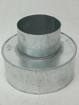 "Galvanized Steel Adapter Reducer 4"" to 6-3/4"" Pellet Stove V"