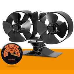 GALAFIRE Heat Powered Stove Fan for Wood Stove, Gas Fireplac