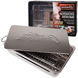 Indoor Outdoor Stovetop Smoker - Heavy Duty Stainless Steel