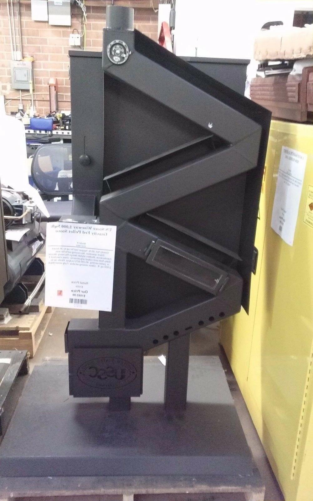 2000 sq ft gravity fed pellet stove