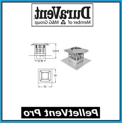 3'' PelletVent Pro Termination Kit - 3PVP-VCT33 - BLACK