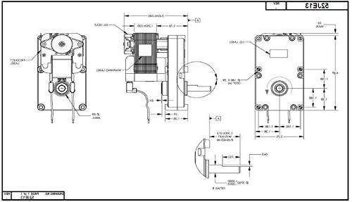 Dayton AC Motor, Nameplate, 10 RPM, 1.30 Amp,