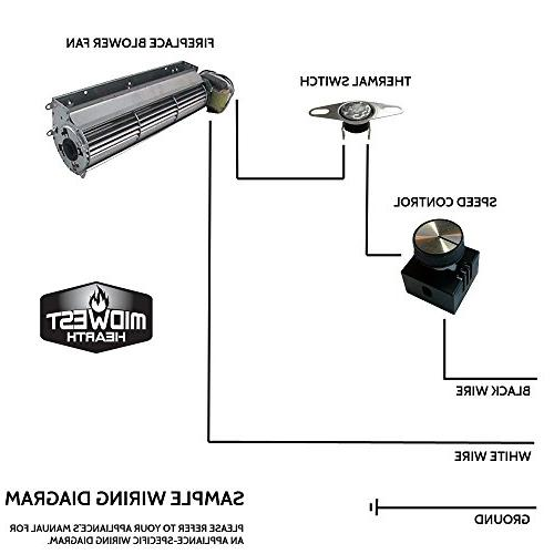 Midwest Hearth Fan Control   Fireplace and On/Off Variable with and Hardware
