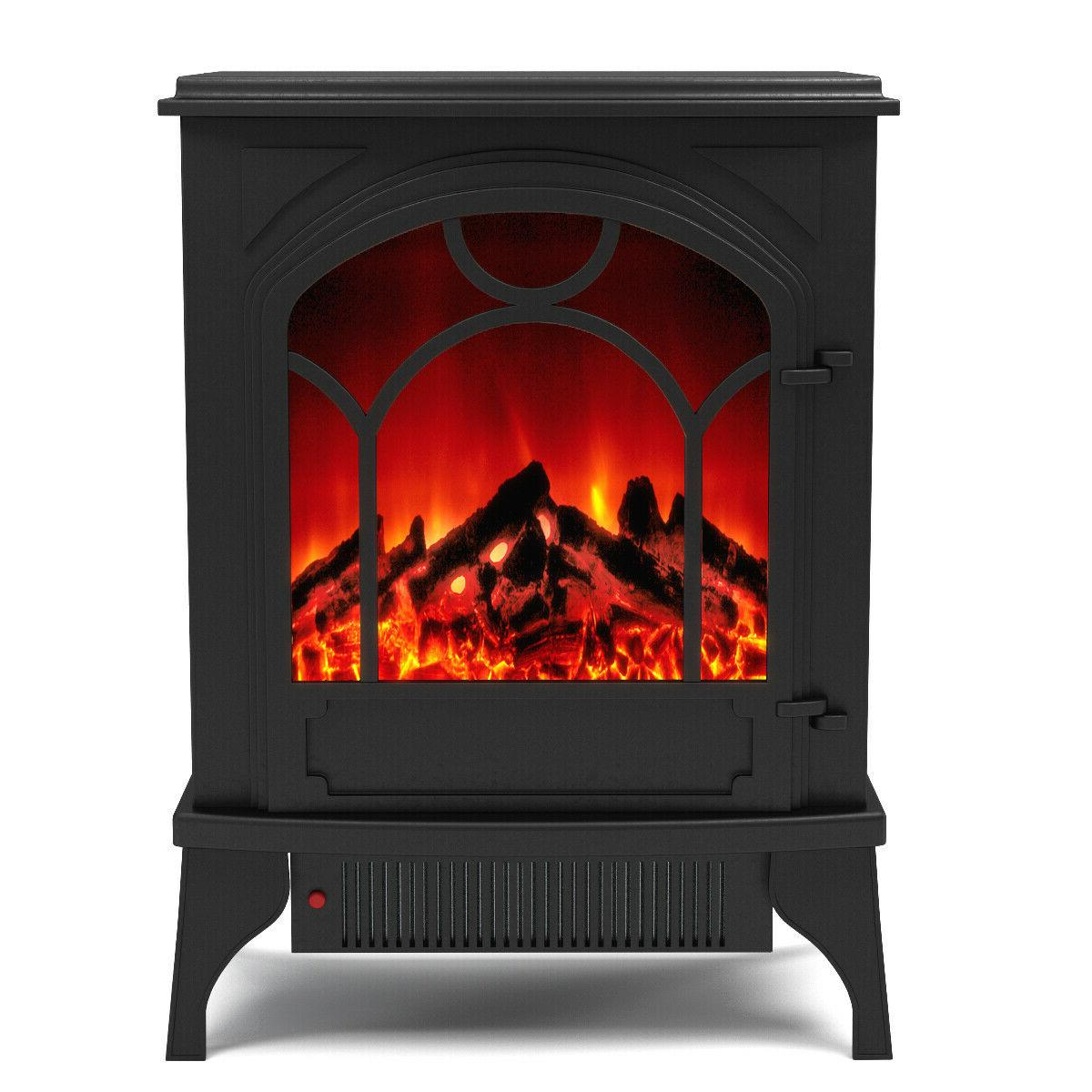 aries electric fireplace standing portable