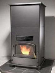 BRECKWELL BIG E Home Heater WOOD PELLET Stove, w Hopper Exte
