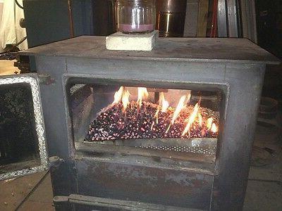 CAST TECH WOOD LOG STOVE burns LOGS WOOD Cast ANTIQUE