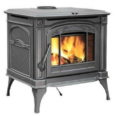 cast tech wood log stove burns logs