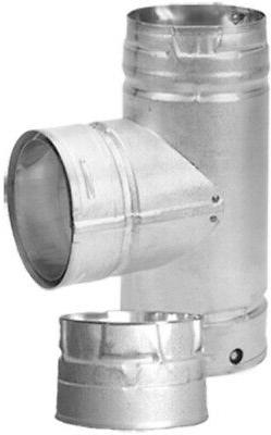 Cleanout Tee Stainless Steel Inner Wall for 3 Inch Pellet St