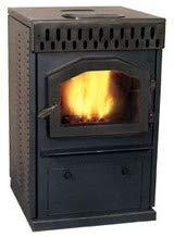 MagnuM Countryside Black Pedestal Wood Pellet Stove 32,000 B