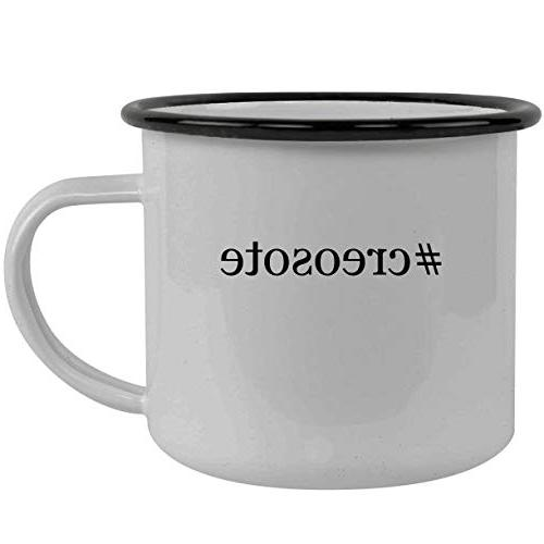 creosote stainless steel hashtag 12oz camping mug