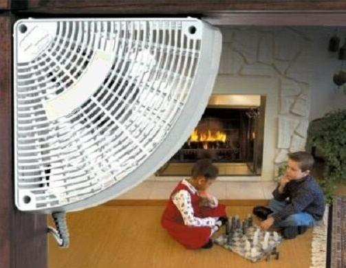 FAN DOORWAY AIR CIRCULATOR, Corn Pellet Insert Stove