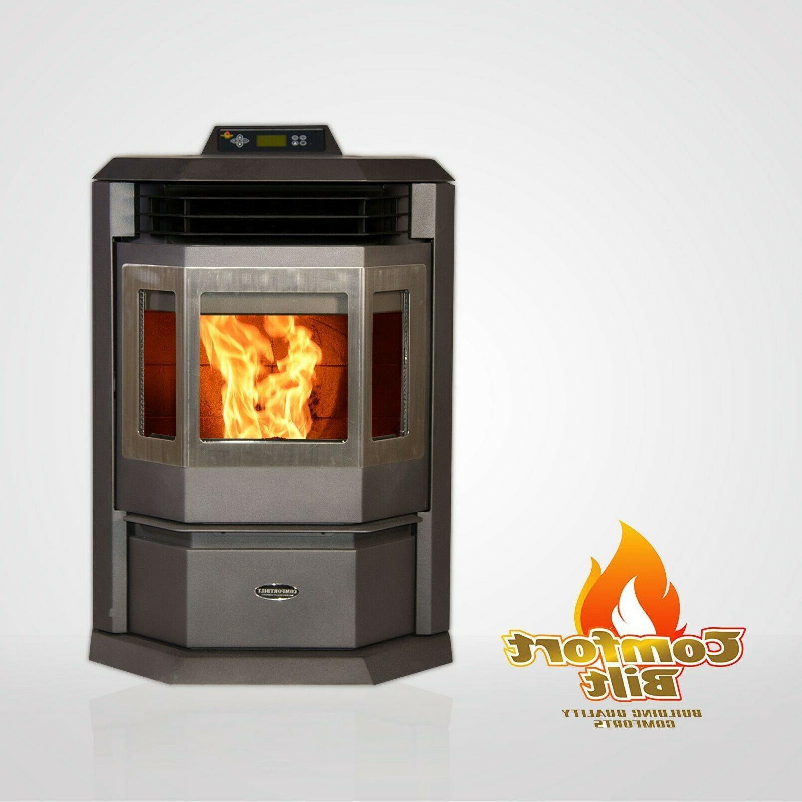hp22 carbon black pellet stove fireplace 50000