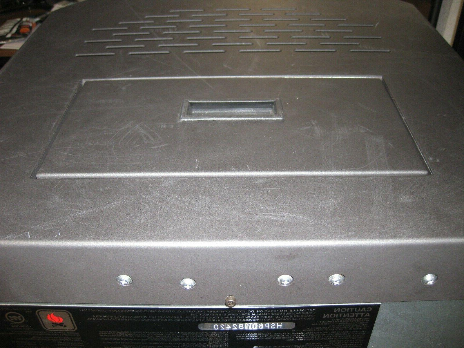 New HP22 Carbon Black Fireplace 50000
