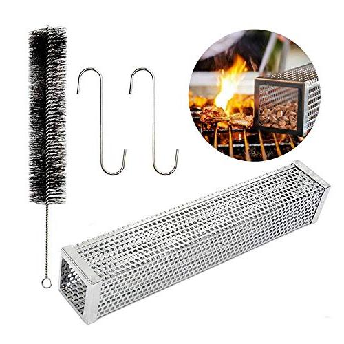 pellet smoker tube perforated stainless