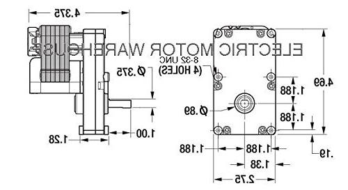 Motor, 1 RPM, 115V, 0.19 amps