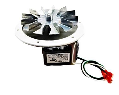 pellet stove combustion exhaust fan