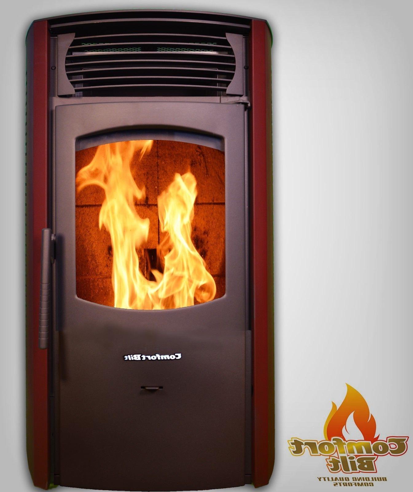 Comfortbilt Pellet Stove/Fireplace 42000btu -HP50-Burgundy-Special