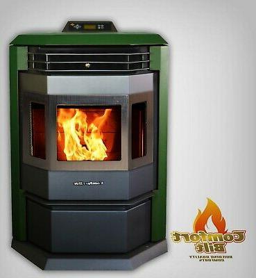 pellet stove hp22 50000 btu green w