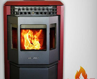 pellet stove hp22 50000btu attractive burgundy limited
