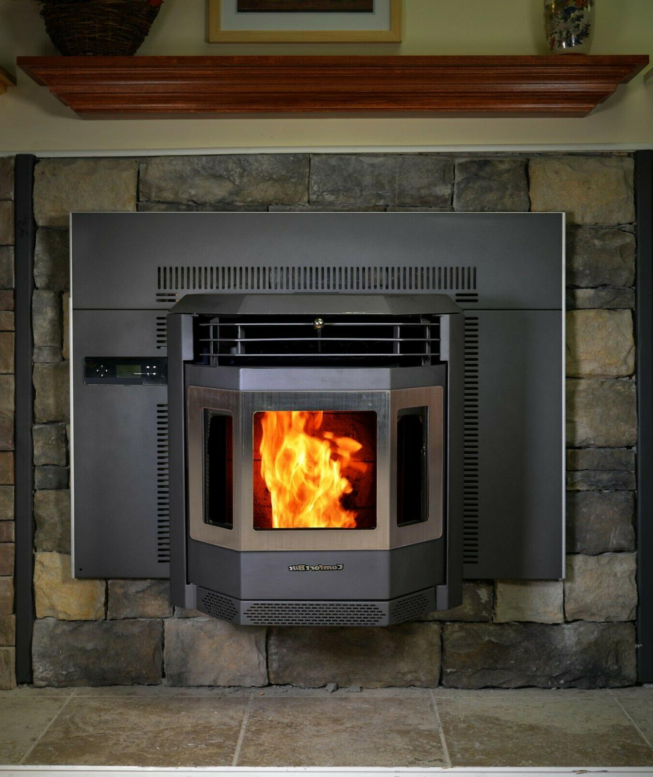 pellet stove hp22i ss fireplace insert carbon
