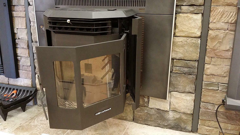 Pellet Fireplace Insert 42000 Charcoal