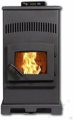 pellet stove hp55 44000 btu carbon black