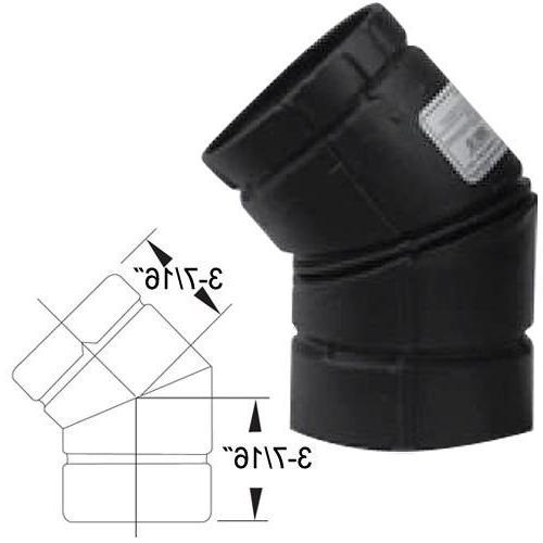 pellet stove pipe elbow