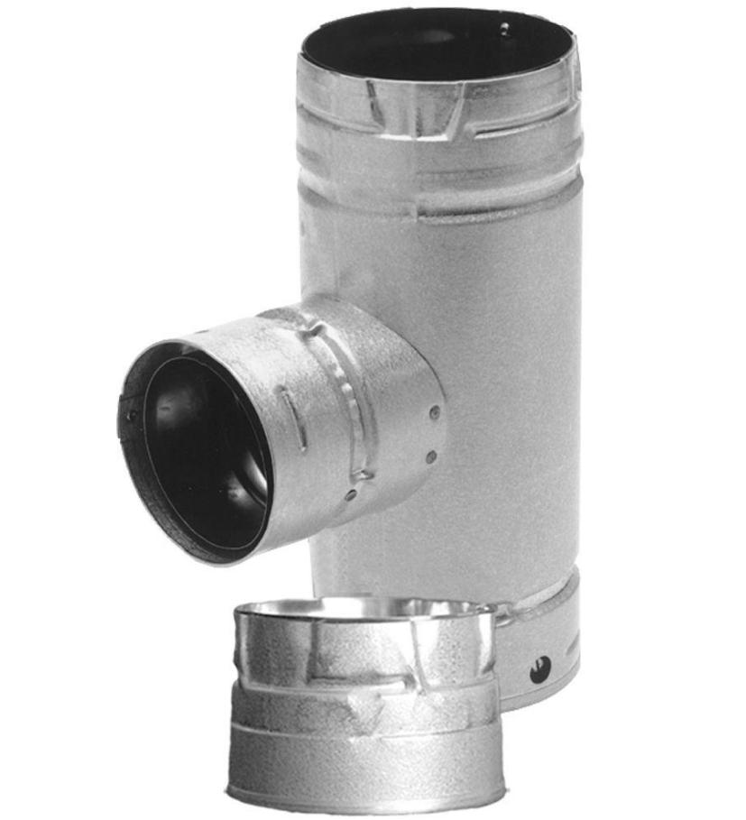 DuraVent PelletVent Pipe Tee in Out Cap