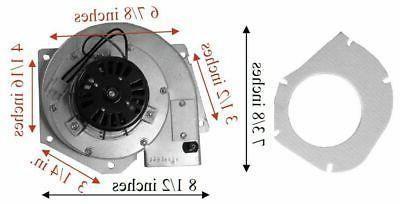 pellet exhaust combustion motor blower w housing