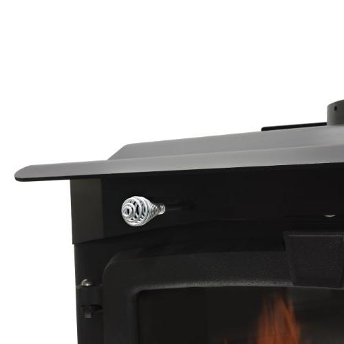 Pleasant Medium 65,000-BTU Burning with Blower and Ceramic Glass