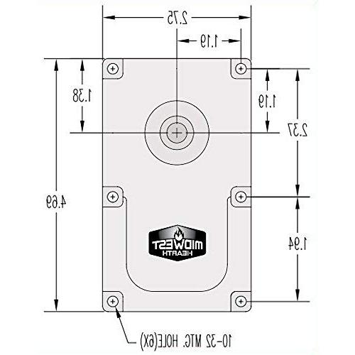 Midwest Replacement Stove 1-RPM - Fits Brands Models