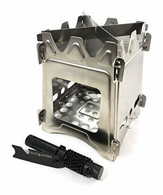 Survival Outlaw – Wood Burning Camp Stove –Uses Twigs, S